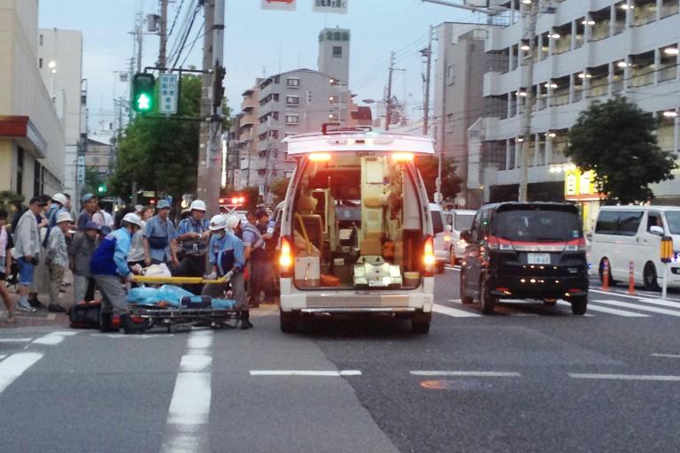 関西スーパー前事故