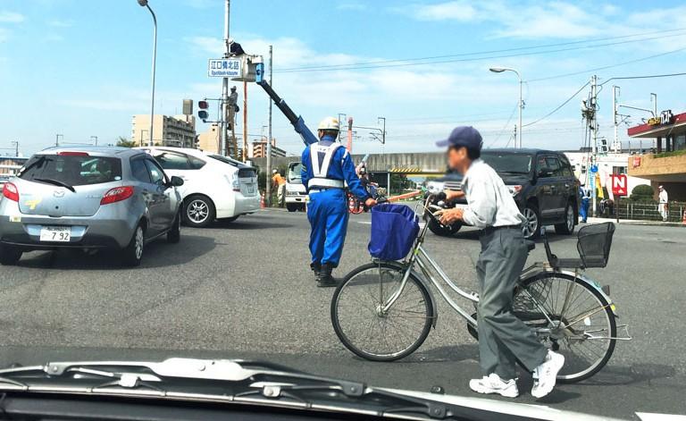 江口橋北詰 信号 工事