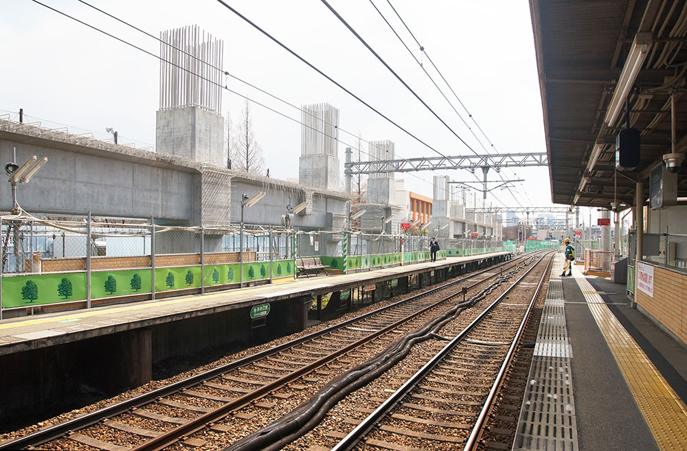 崇禅寺駅 高架工事