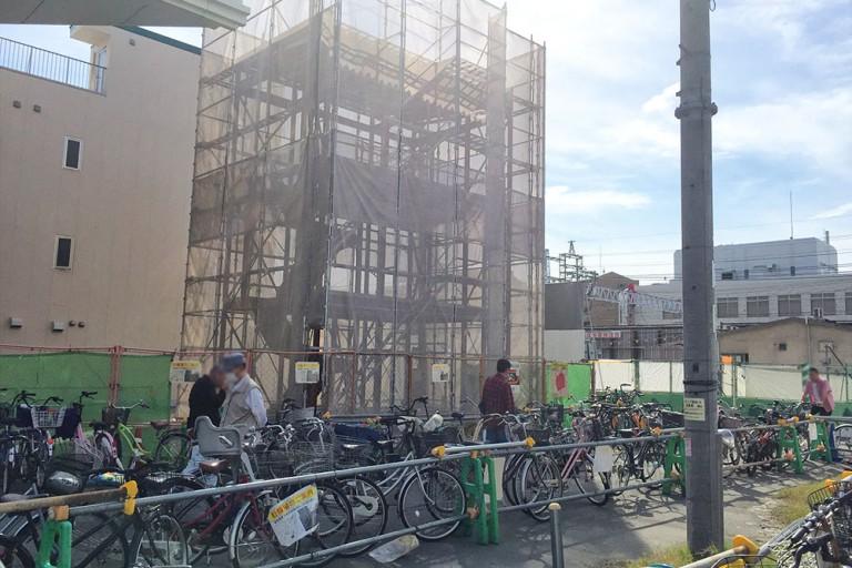東淡路商店街 建設中