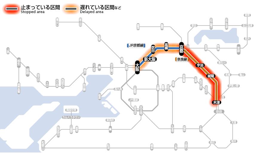 JR京都線 人身事故