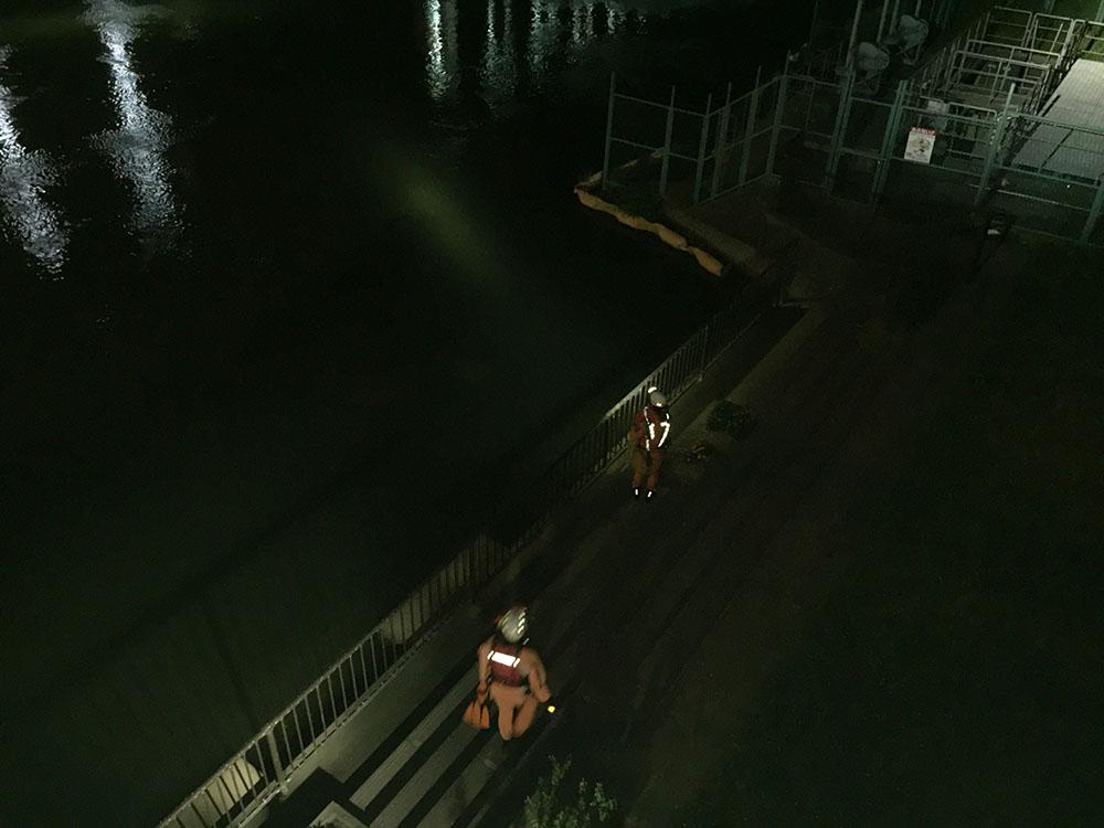 神崎川 飛び込み 捜索