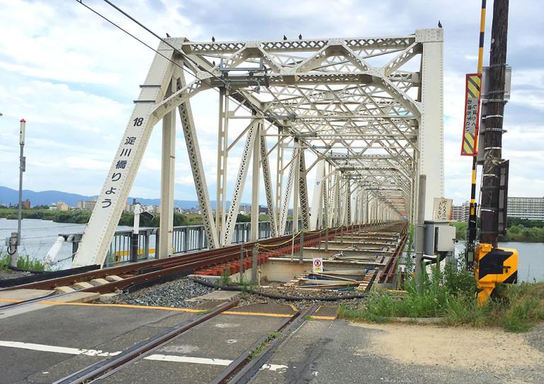 おおさか東線 赤川鉄橋
