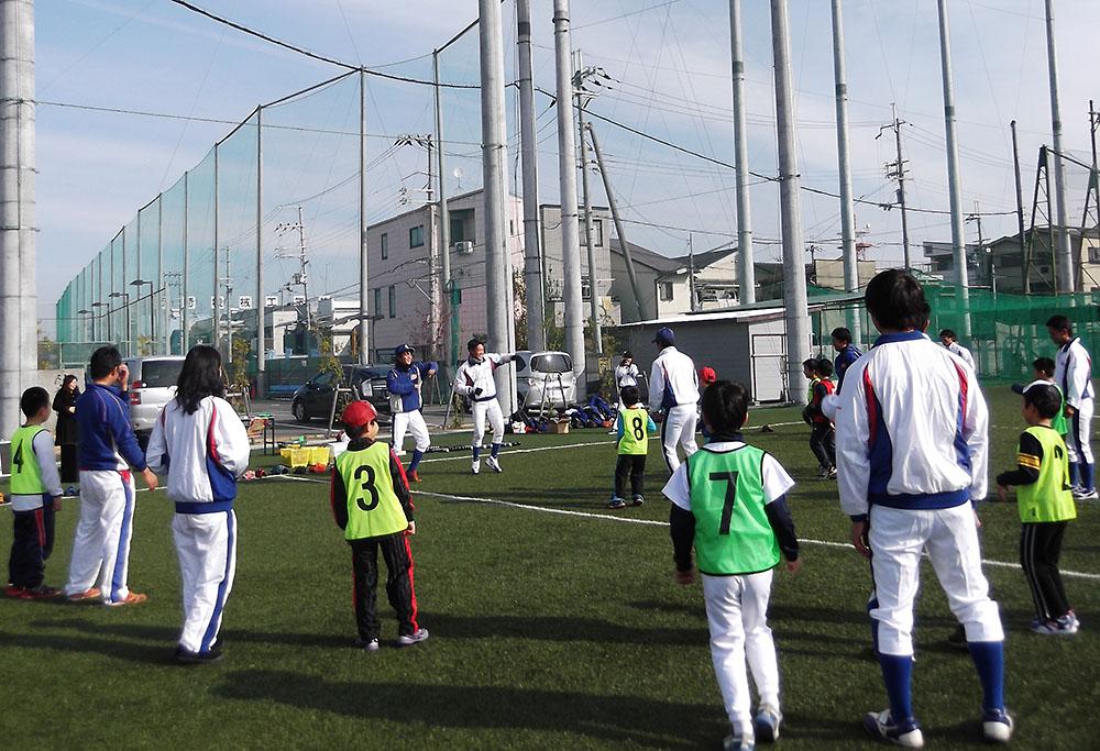 大経大キッズカレッジ2016 野球教室