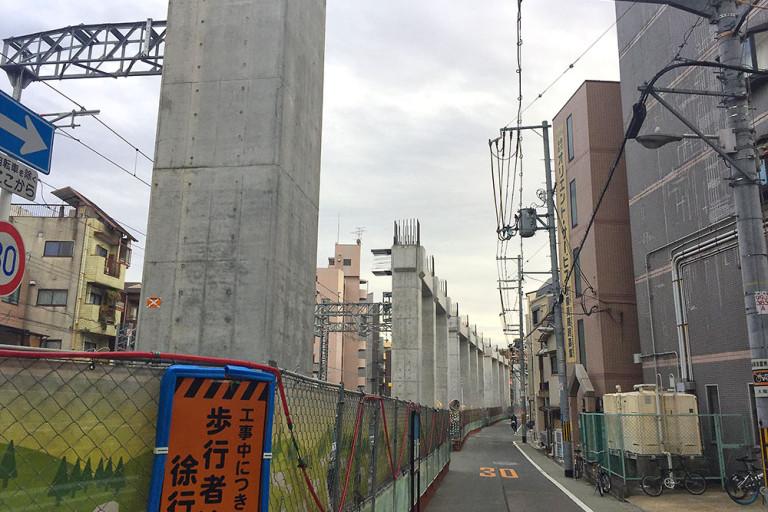 阪急下新庄駅 高架 工事