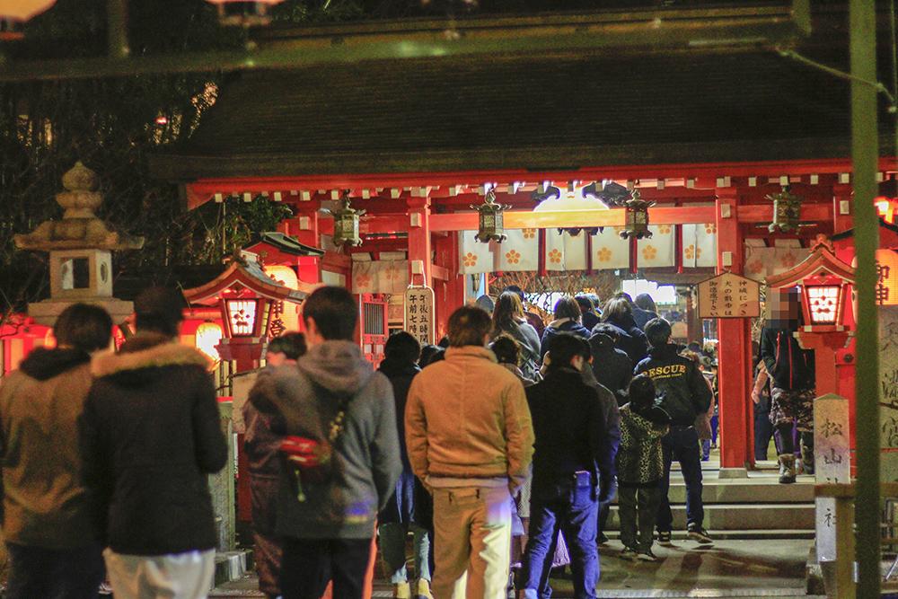 初詣 松山神社