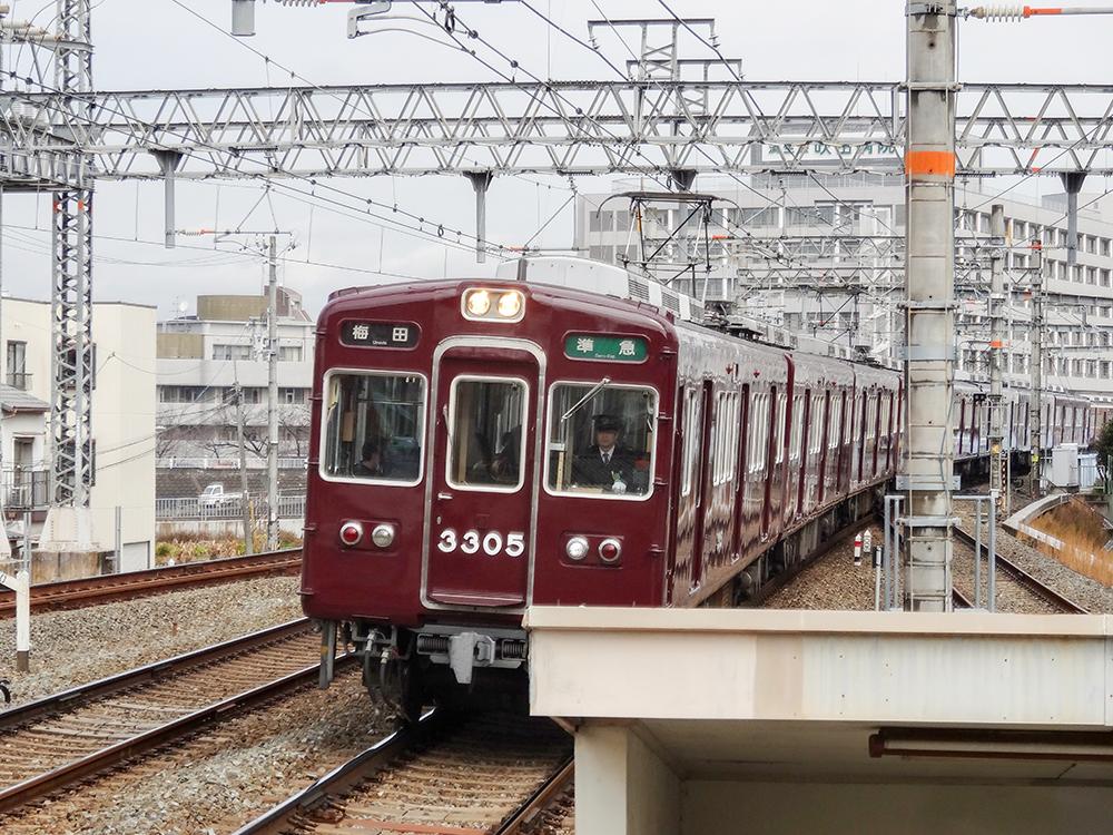 阪急電車3300系梅田行
