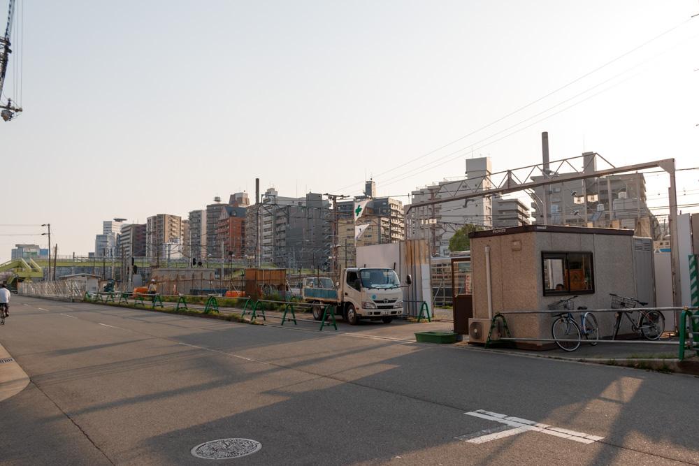 東淀川駅高架工事