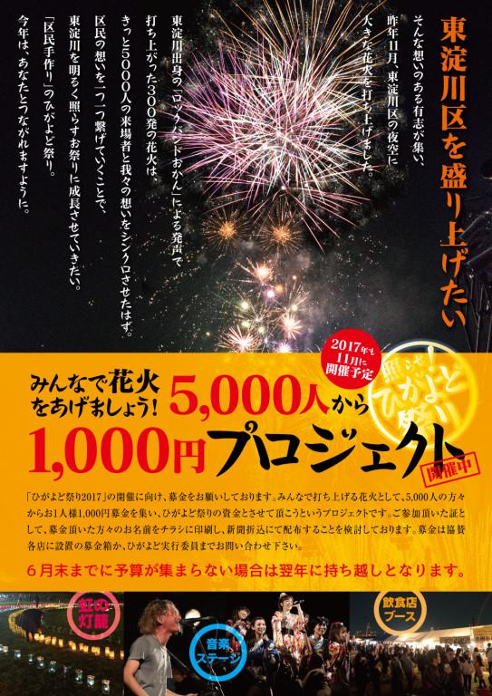 ひがよど祭り2017 5000人から1000円プロジェクト