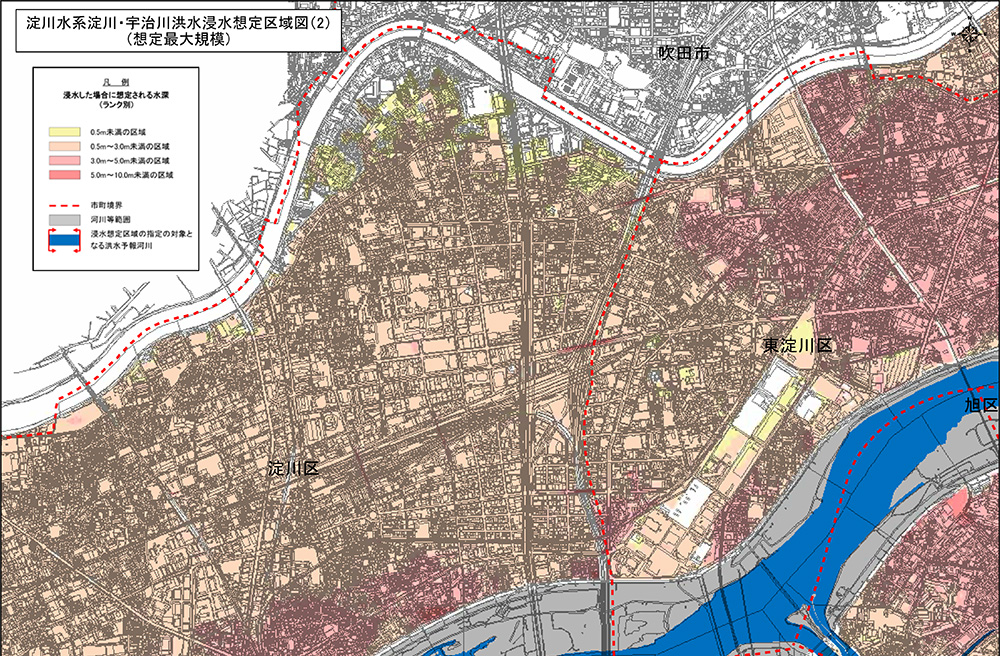 洪水マップ淀川河川事務所引用