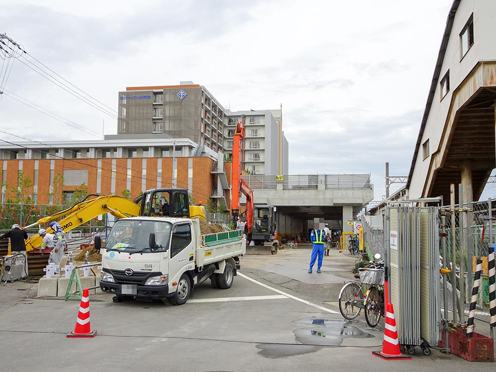 阪急淡路駅高架工事