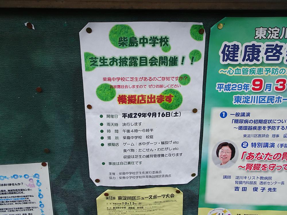 柴島中芝生お披露目
