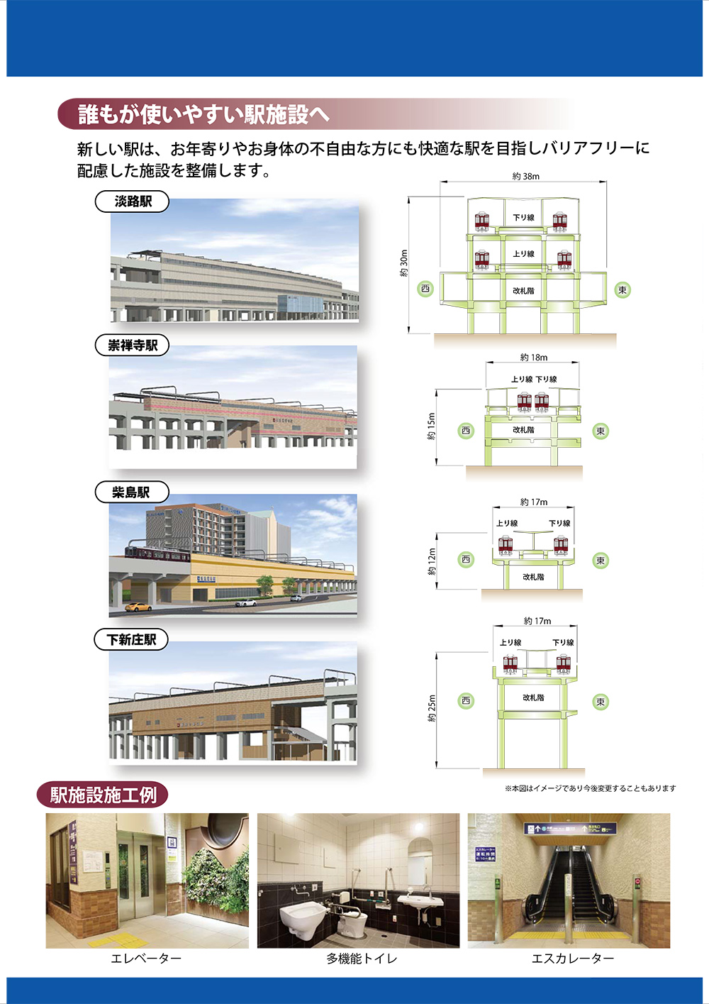 阪急工事断面図