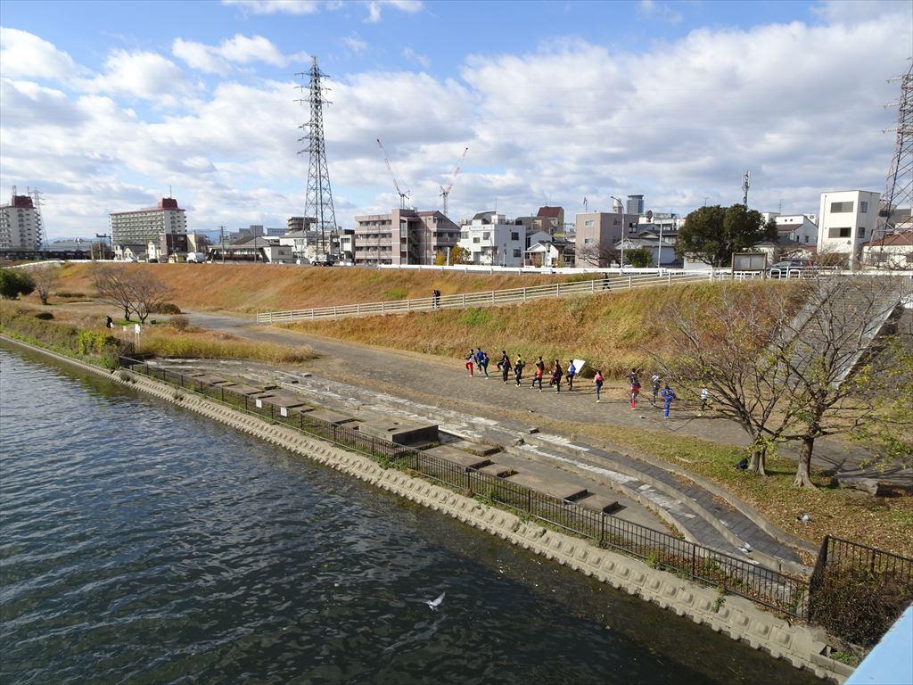 大阪高校駅伝練習風景