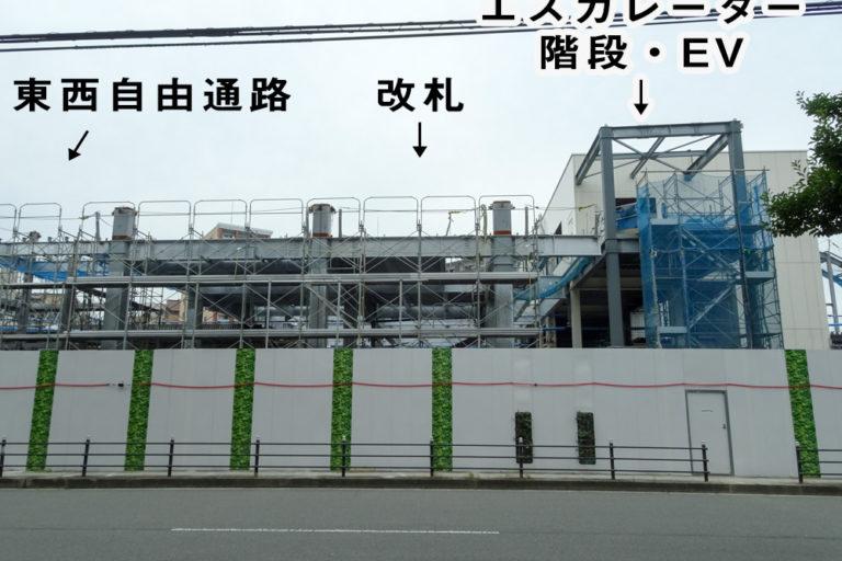 東淀川駅工事踏切