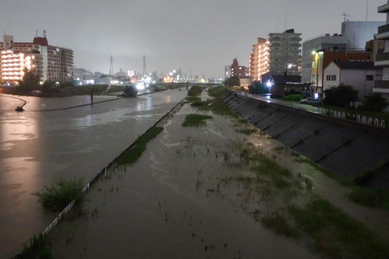 安威川増水