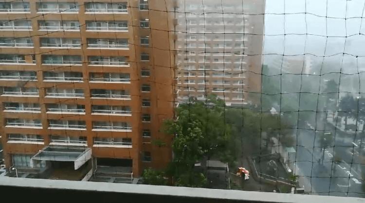 豊郷団地台風