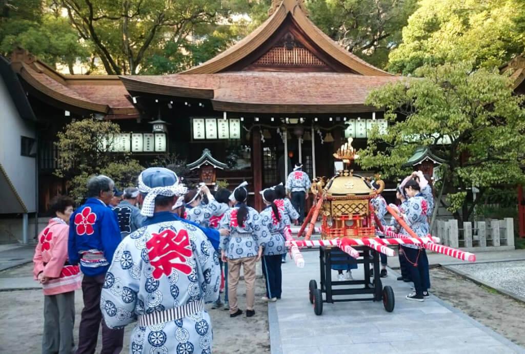 松山神社の秋祭り2017