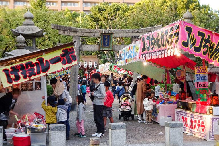 松山神社秋祭り2017屋台